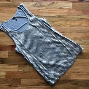 Pewter/Soft Gold Sequin Tank